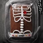 Torta di Halloween a forma di radiografia