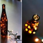 Lampade con le bottiglie usate