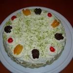 Ricetta per la torta alla crema di burro e noci