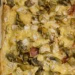 Sfoglia con cotto, carciofi e formaggio