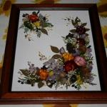 Quadretti di fiori secchi