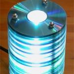 Lampada con i cd usati