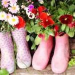 Come trasformare gli stivali in vasi da fiori