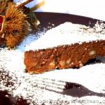 Torta brownies con castagne e cioccolato fondente