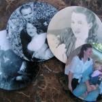 Portafotografie pendendi con i vecchi cd