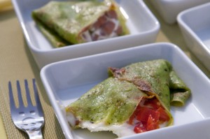 crepes al pesto