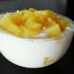 Mousse di ricotta e ananas