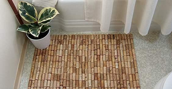 tappeto con tappi di sughero