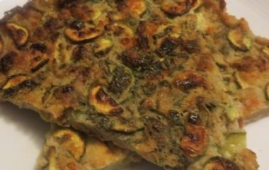 farinata con farro e zucchine