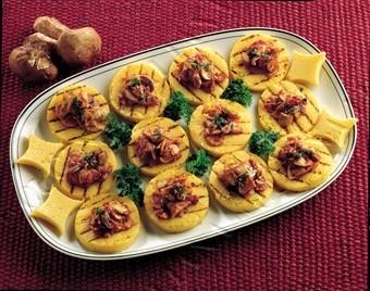 Ecco come realizzare dei fantastici crostini di polenta
