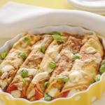Cannelloni di crêpes con spinaci e prosciutto