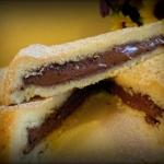 Crostata ripiena di crema al cioccolato