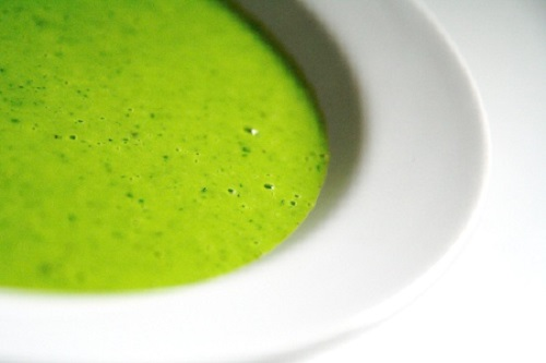 Crema di piselli al curry