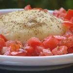 Tomini al forno con dadolata di pomodori