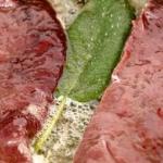Le scaloppe di fegato con kiwi e pompelmi rosa