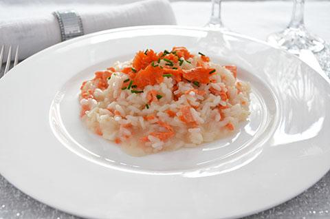 Sformatino di riso al salmone