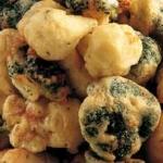 Verdure in pastella: broccoli, cavolfiore e zucchine