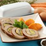 Secondi piatti: girella di vitello con uova e verdure