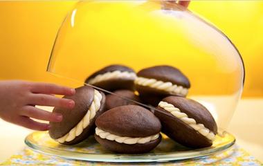 Whoopie, golosi biscottini farciti con vaniglia