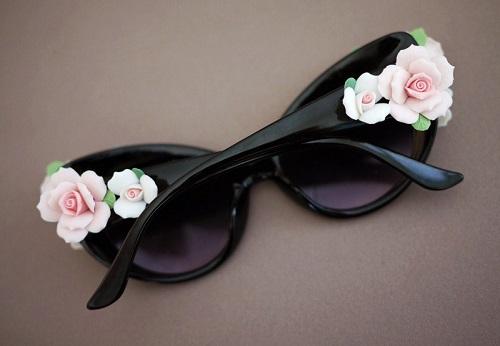 occhiali da sole floreali