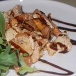 Pollo arricchito dall'aggiunta di aceto balsamico