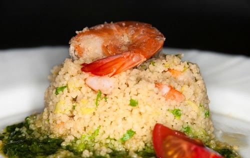 couscous gamberi piselli